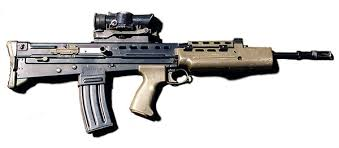 """anything made by Smith & Wesson."" he says.................. Sa80_a10"