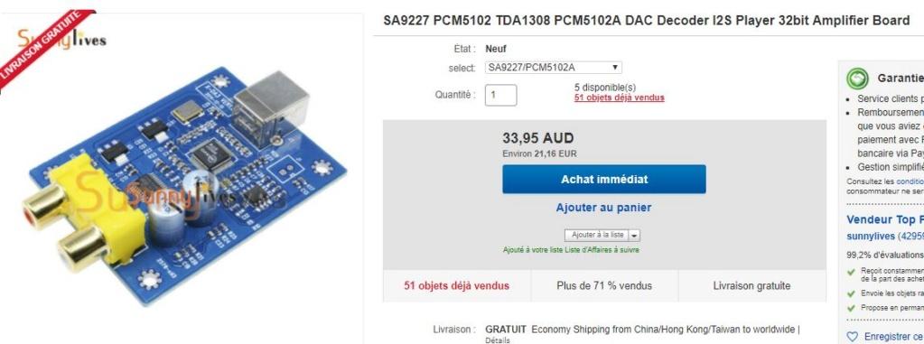 Quel DAC pour l'ampli Bleu ? - Page 2 Pcm51010