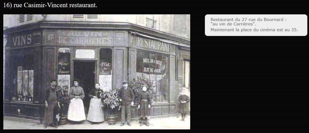 CPA Colombes Rue Casimir Vincent restaurant, beurre et dentelles Casimi10