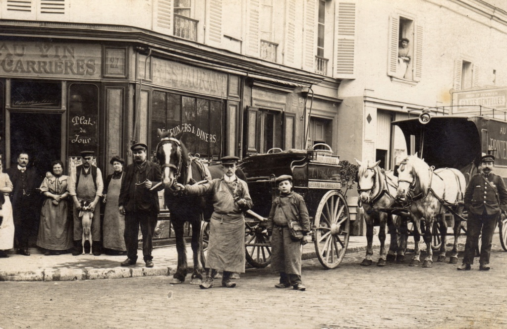 CPA Colombes Rue Casimir Vincent restaurant, beurre et dentelles Cpa_au10