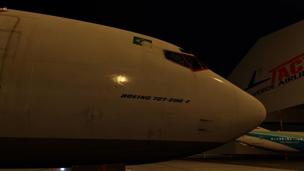 Penúltima perna do traslado do B722 VBD, Praia - Recife 727-2034