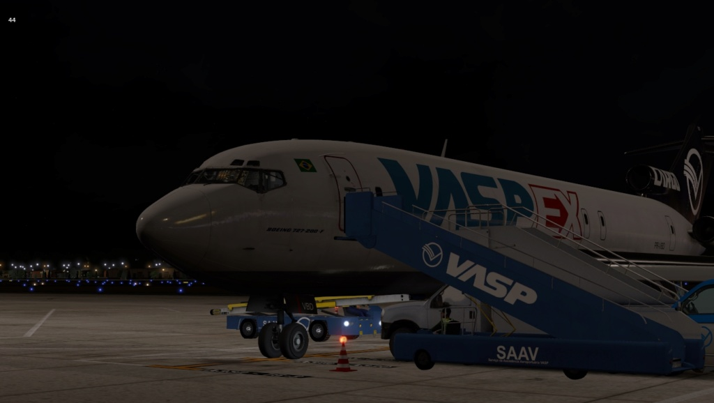 Penúltima perna do traslado do B722 VBD, Praia - Recife 727-2046