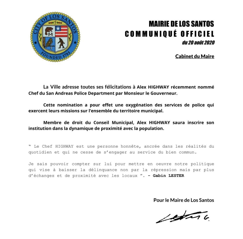 Mairie de Los Santos : La Ville sourit à la nomination du nouveau Chef SAPD Chef_s10