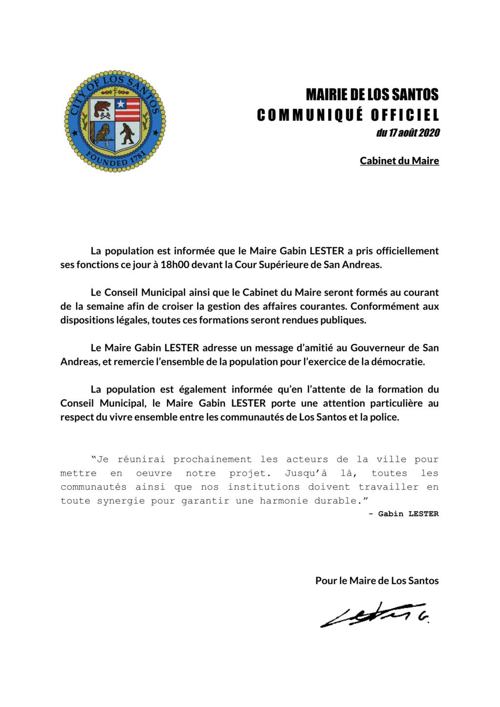 MAIRIE DE LOS SANTOS : Prise de fonction pour le Maire Gabin LESTER Lester10