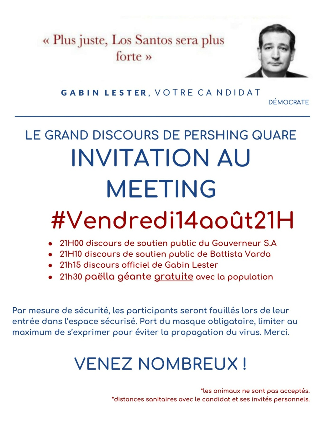 (FLYER) GRAND MEETING VENDREDI 14/08/2020 à 21H PERSHING SQUARE Meetin10