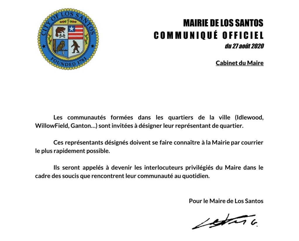 Mairie de Los Santos : Désignations des représentants des quartiers de LS Repres10