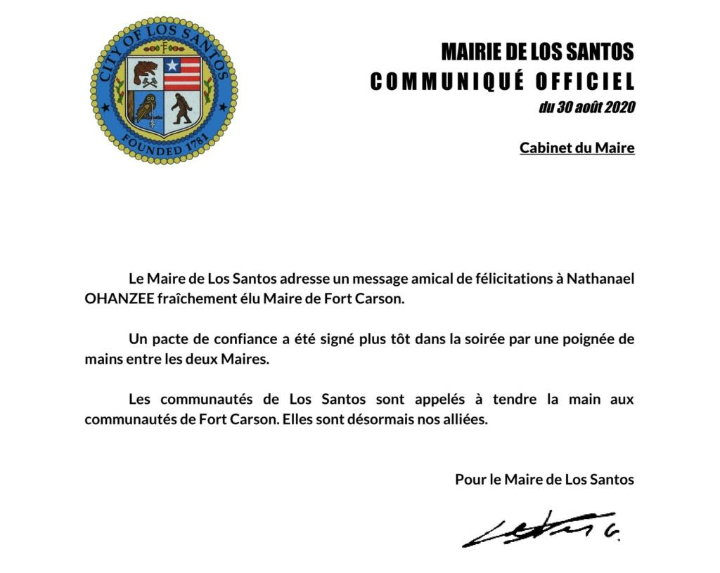 Mairie de Los Santos : Félicitations au nouveau Maire de Fort Carson.  Repres11