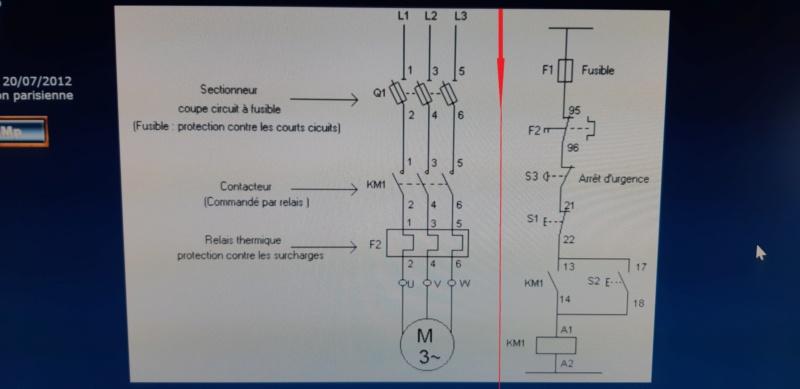 cablage contacteur magnéto thermique 20200745