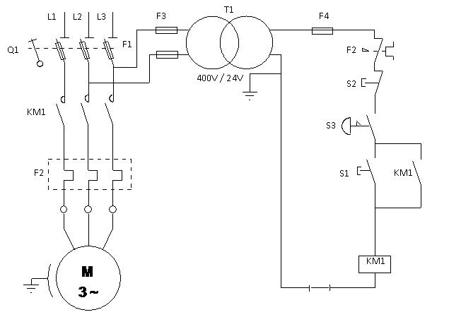 cablage contacteur magnéto thermique M2_ima10