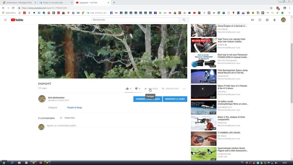 """[tuto] Poster une vidéo """"youtube"""" dont vous êtes l'auteur sur le forum. Forumc15"""