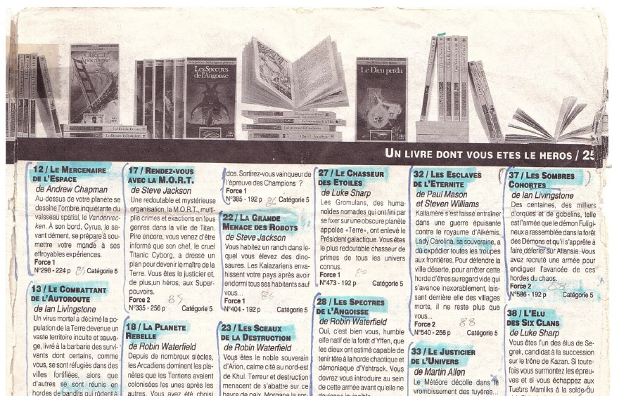 Catalogue bibliographique de la série Défis Fantastiques Catalo10