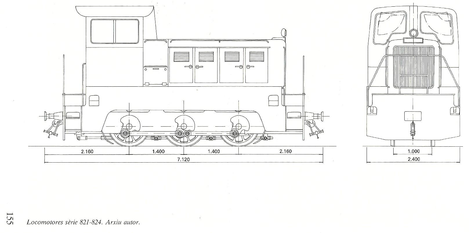 Locomotora 1300 Naval FEVE / FGC a escala G Catala10