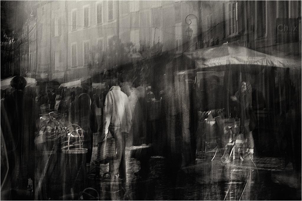""""""" le marché """" série """" flou de bougé """" _1420210"""