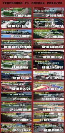 FAQ - CAMPEONATOS F1 AMIGOS  PS4 ONLINE Calend15