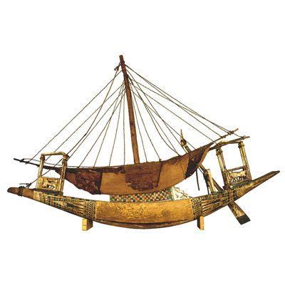 tutankhamun model boats Em-0-010