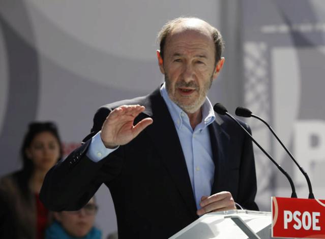 """[PSOE] Rubalcaba: """"Nos estamos jugando cuando hablamos de Europa,  de todo aquello que es fundamental en política, en nuestro día a día como ciudadanos"""" 13320312"""