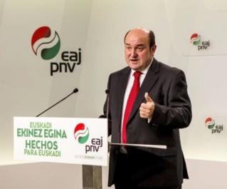 """[PNV] RDP Andoni Ortuzar: """"nuestro voto irá encaminado hacia la preservación del modelo vasco, su autogobierno, el cumplimiento del estatuto de Gernika y mantener las libertades de nuestro pueblo"""" 14326410"""