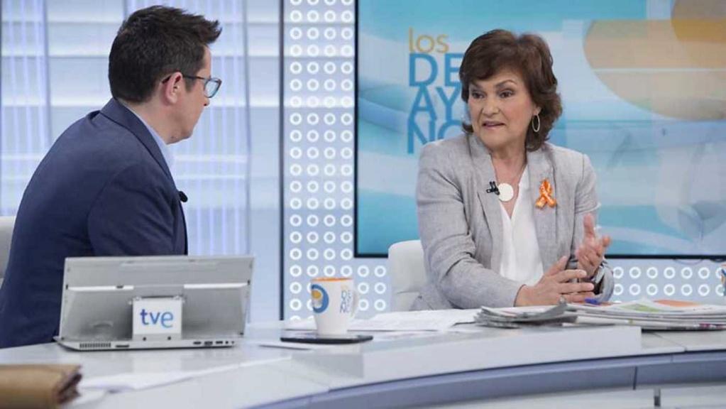 """[Gobierno/PSOE] Carmen Calvo en los desayunos: """"La cuarta fuerza económica de la unión no puede ser la líder de pobreza infantil"""" 40424210"""