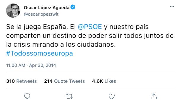 Redes Sociales del PSOE y de sus dirigentes 58798010