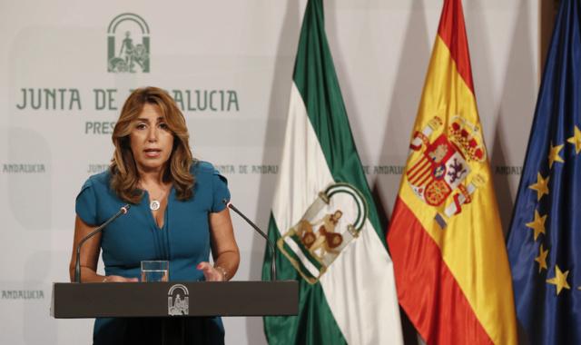 """[Junta de Andalucía] Susana Díaz: """"Izquierda Unida ha decidido sin motivo alguno derrumbarse, venderse a Podemos"""" 59a56510"""