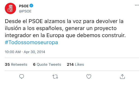 Redes Sociales del PSOE y de sus dirigentes 72bdb710
