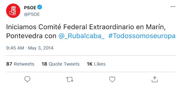 Redes Sociales del PSOE y de sus dirigentes C5867410