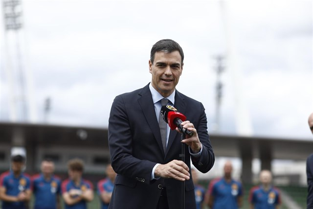 9 de Junio, Acto de Despedida de la Selección española de Fútbol por parte de Pedro Sánchez Fotono10