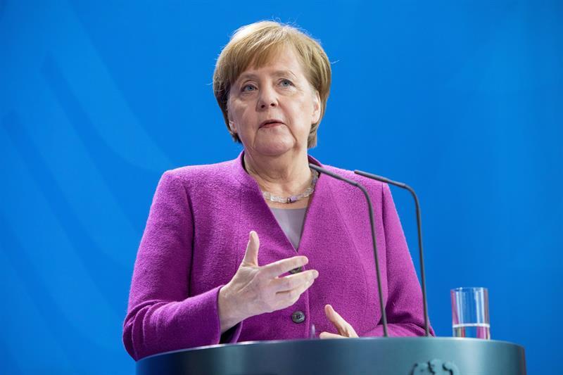18 de Junio Rueda de Prensa Angela Merkel y Pedro Sánchez en Berlín La-can10
