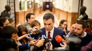 """[Gobierno] Pedro Sánchez: """"No me ha gustado nada la deslealtad de Pablo Iglesias"""" Sanche12"""