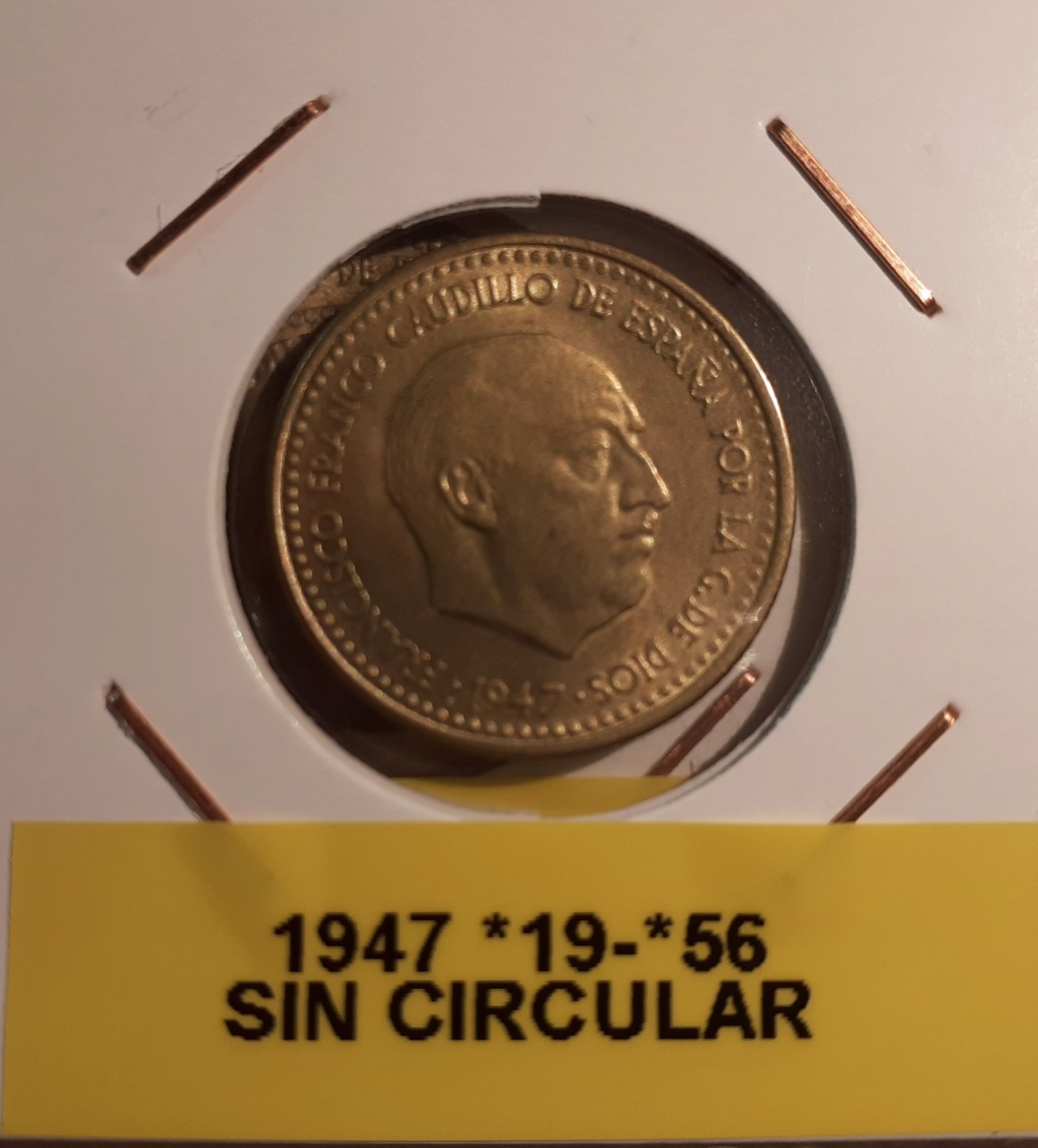 1 PESETA 1947*56 SIN CIRCULAR 03410