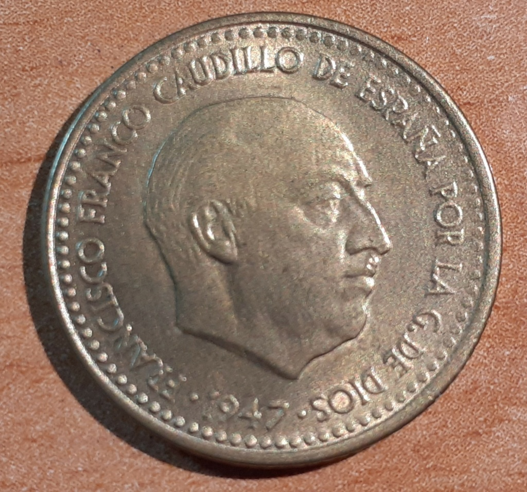 1 PESETA 1947*56 SIN CIRCULAR 03611