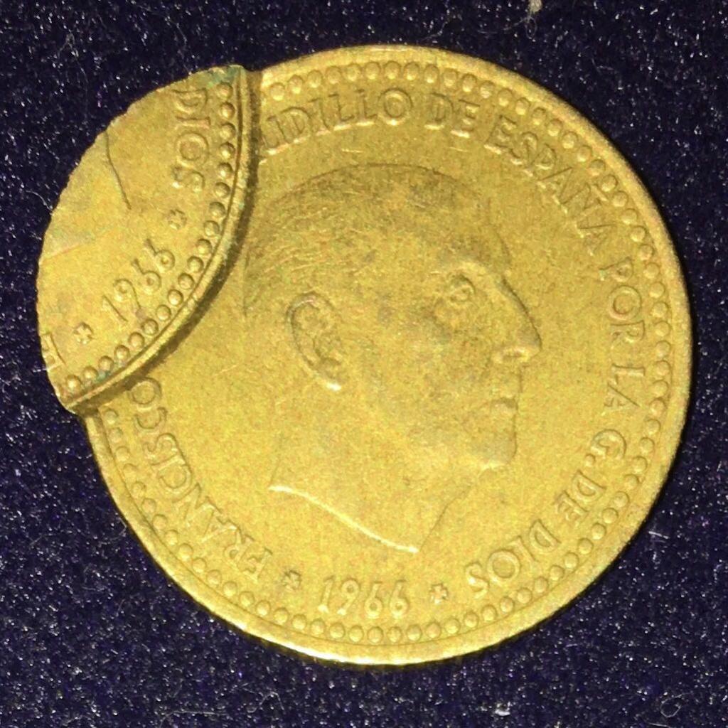 1 PESETA 1966 DOBLE ACUÑACIÓN , POR ANVERSO. Img-2029
