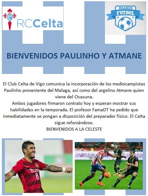 Bienvenidos Paulinho y Atmane Celta_29