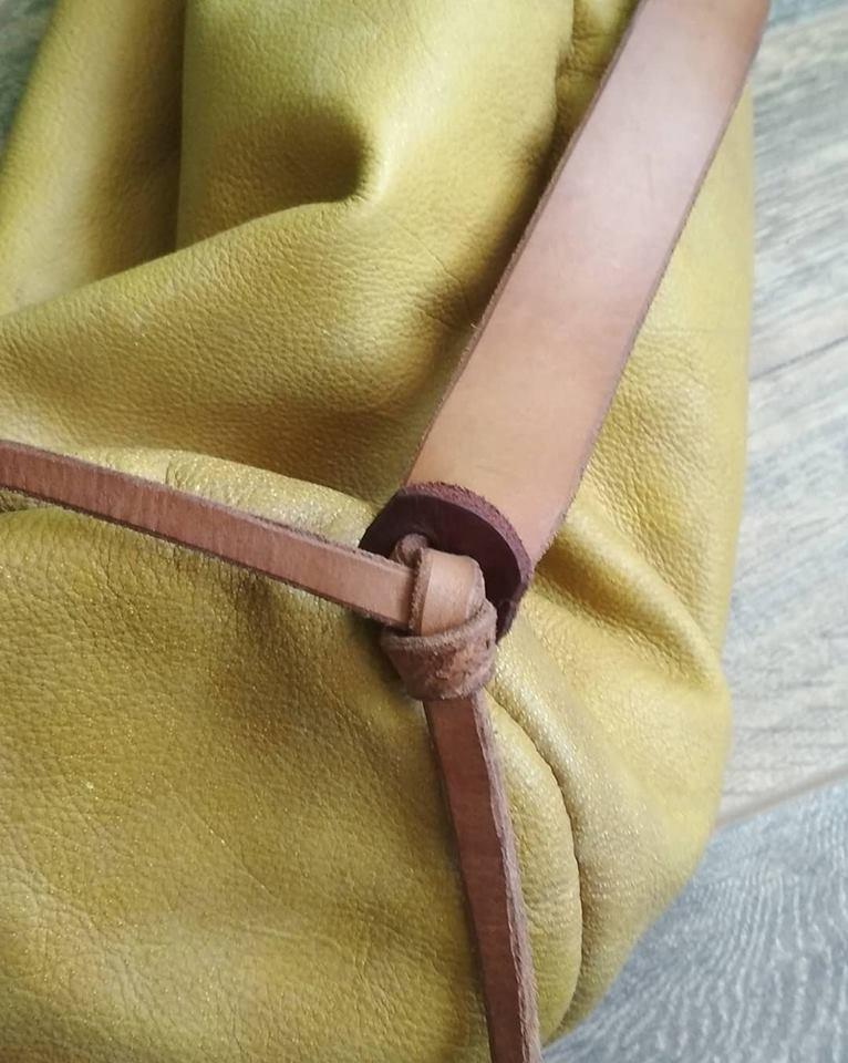 bolsa peregrino de cuero 54525410