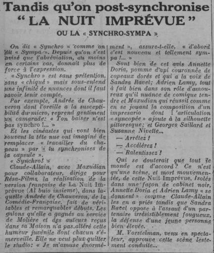 Article sur le doublage (1934) Como10