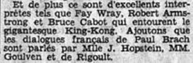 King Kong (E. B.Schoedsack et M. C.Cooper, 1933) King10