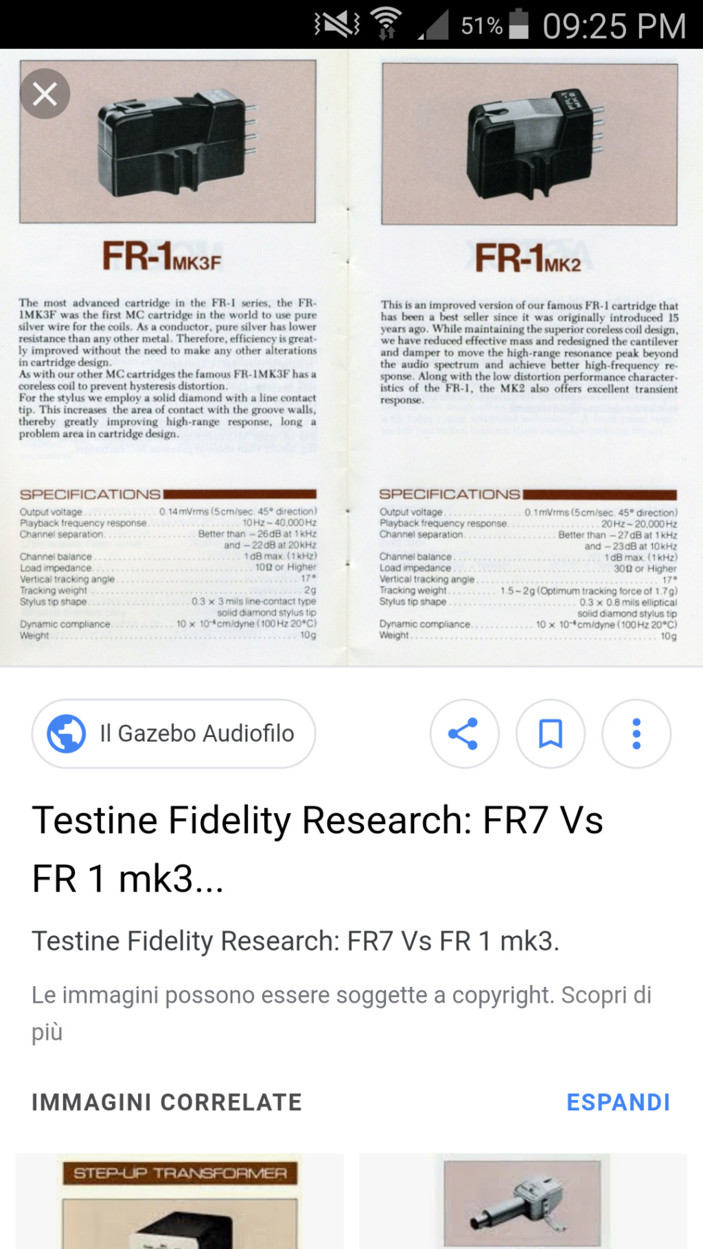 Braccio per testine fidelity research Screen10