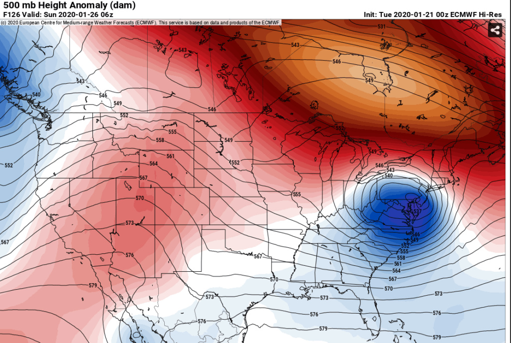 January 25th Winter Storm  Euro16