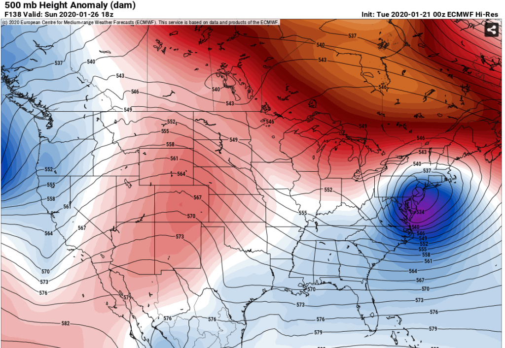 January 25th Winter Storm  Euro211