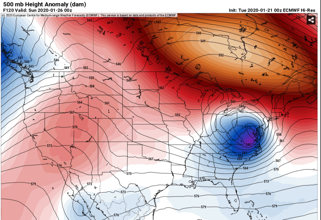 January 25th Winter Storm  Euro310