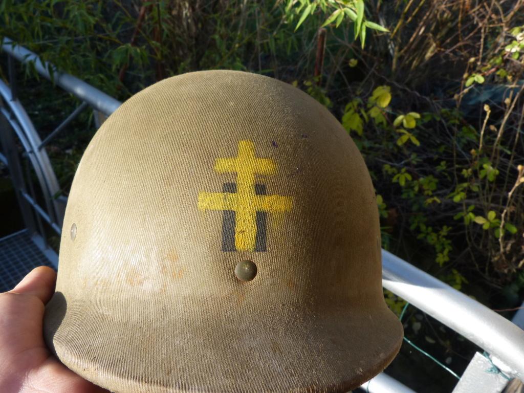 """Aide à l'identification paire de casques """"Normandie"""" P1210822"""