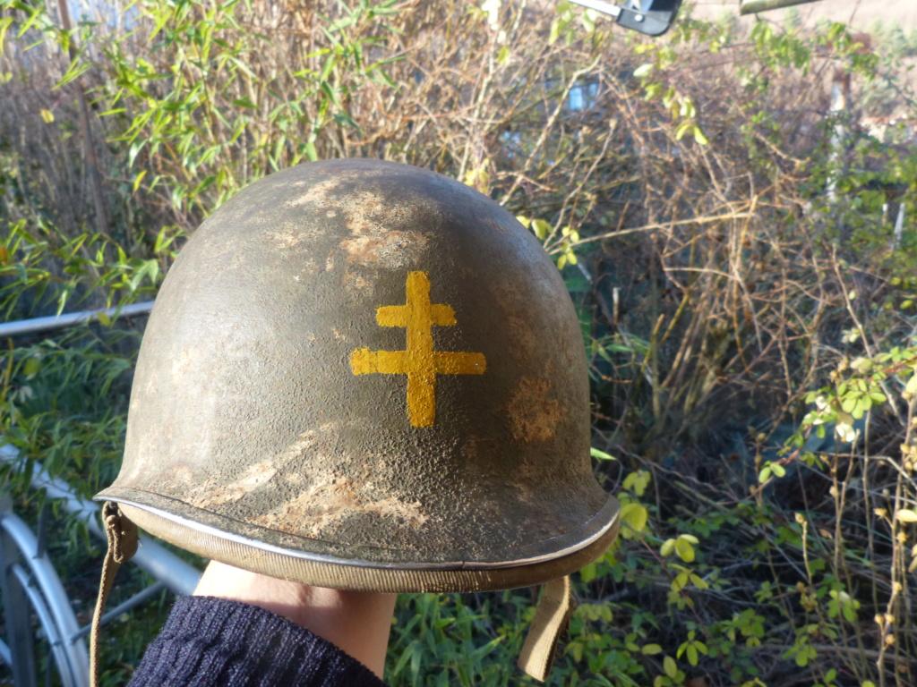 """Aide à l'identification paire de casques """"Normandie"""" P1210826"""