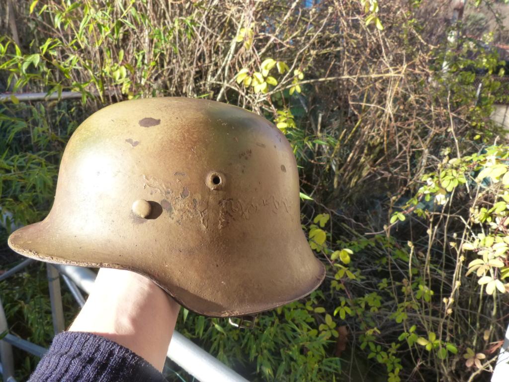 """Aide à l'identification paire de casques """"Normandie"""" P1210829"""