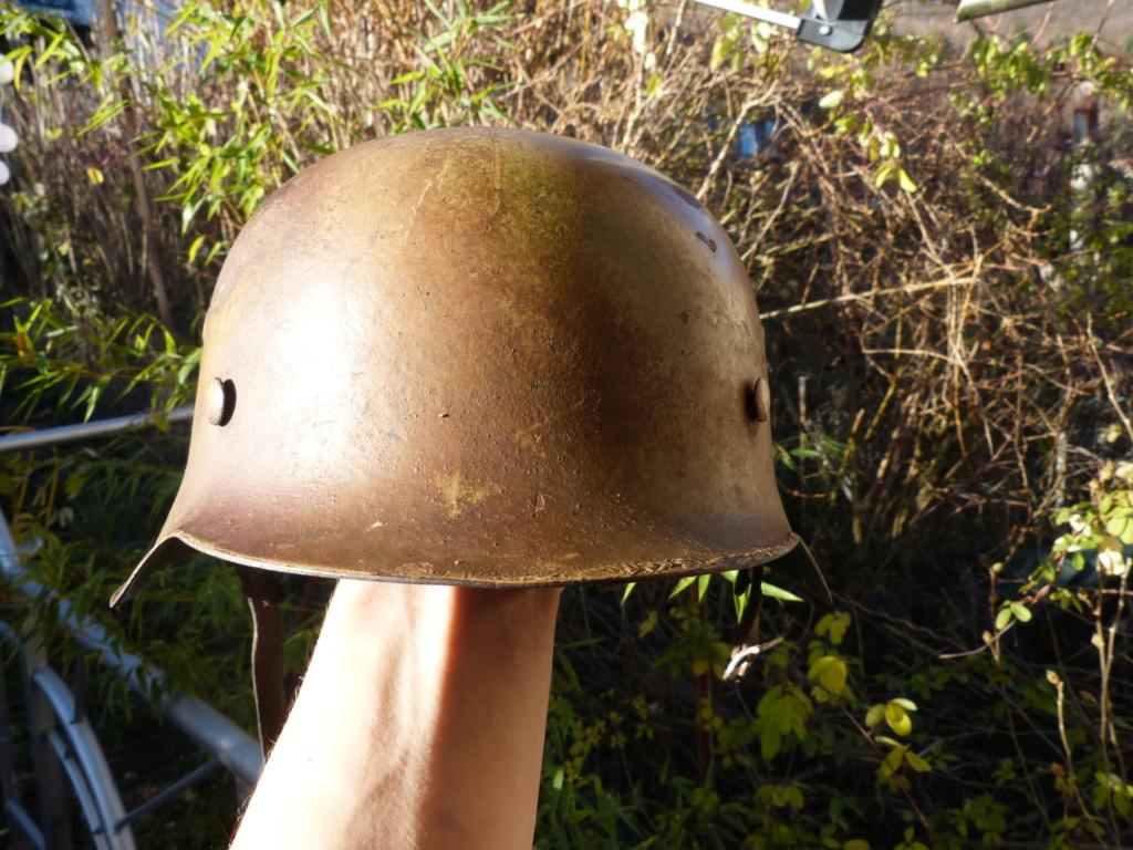 """Aide à l'identification paire de casques """"Normandie"""" P1210835"""
