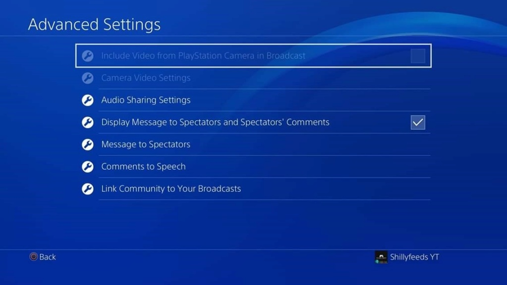 PlayStation 4 - Broadcast/Audio/Linking Settings Fb_img28
