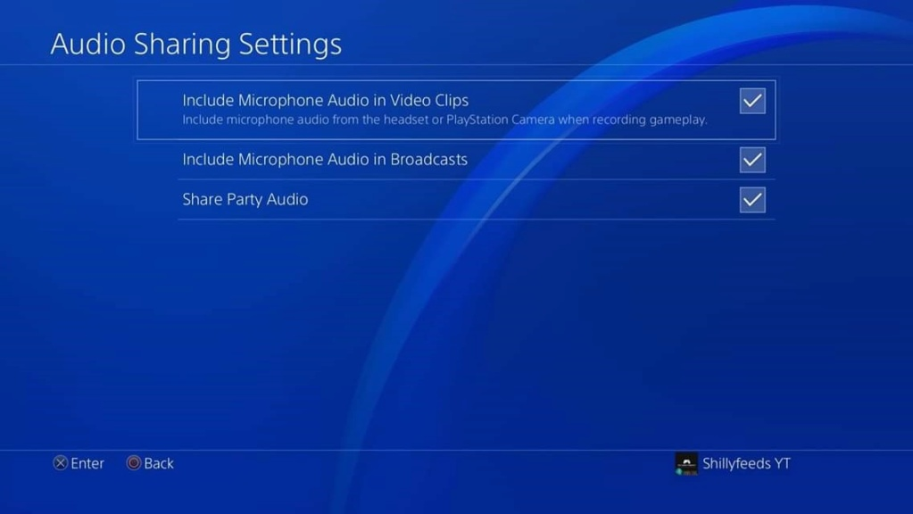 PlayStation 4 - Broadcast/Audio/Linking Settings Fb_img30