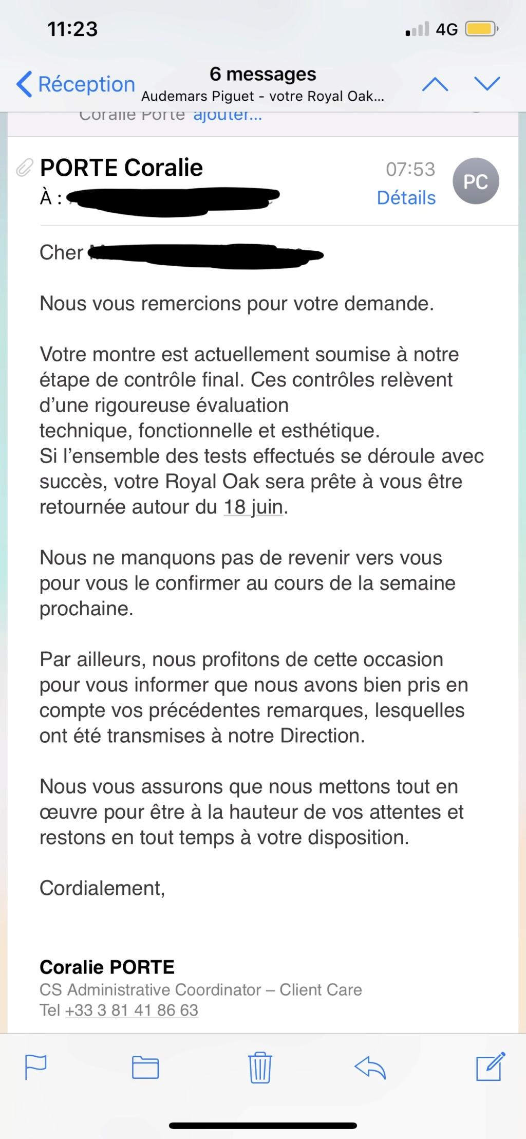 Ma nouvelle Audemars Piguet Royal Oak 15450.03ST Blue Dial  - Page 11 0c9f0b10