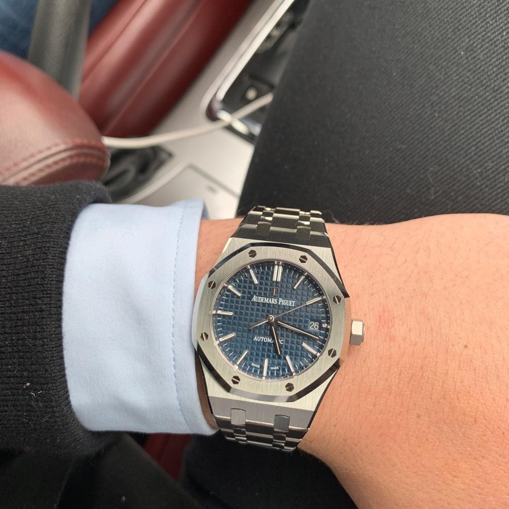 Ma nouvelle Audemars Piguet Royal Oak 15450.03ST Blue Dial  B3105810