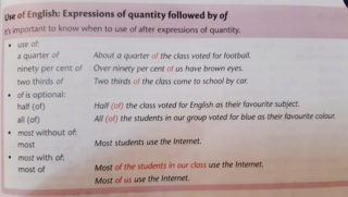 "Revision on "" expression of quantity followed by of"" Used10"