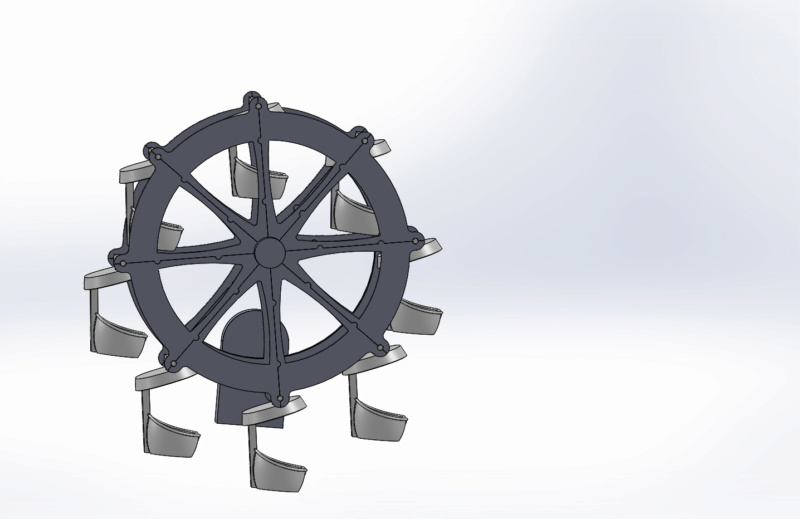 Grande roue électrifiée pour personnages Playmobil Assemb10